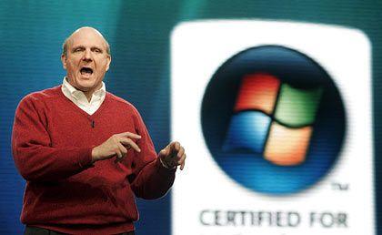 """""""Außer der Marke hat Apple nichts in petto, was andere Anbieter nicht auch zu bieten hätten. Aber durch den iPod erwarten die Menschen derzeit, dass alle Produkte mit einem ,i' am Anfang faszinierend sind."""" Steve Ballmer, CEO von Microsoft"""