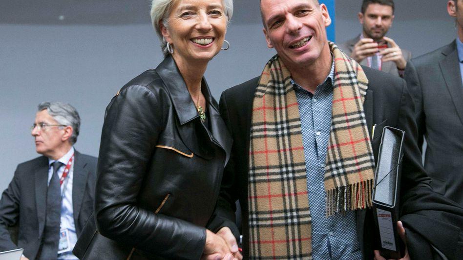 Ein Bild der Harmonie: IWF-Präsidentin Christine Lagarde mit Griechenlands Finanzminister Giannis Varoufakis