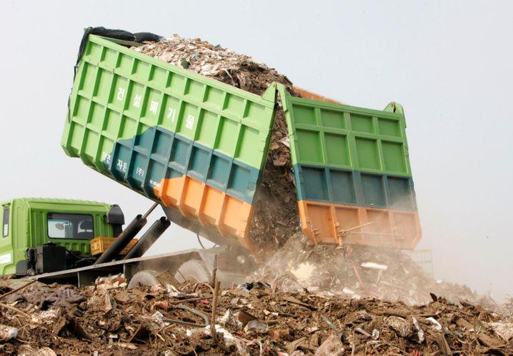 Müllkippe in Incheon, westlich von Seoul: Das technisch hochentwickelte Korea nutzt Hightech auch zur Müllvermeidung
