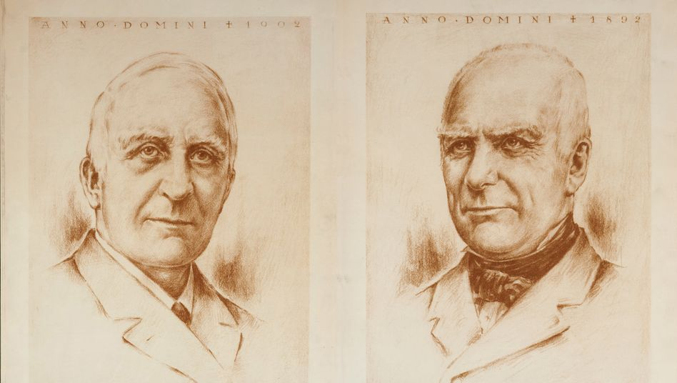 Clemens (li.) und August Benninkmeijer gründeten C&A: Mit einem Verkauf des Warenhauses würde der zweitreichste Clan im Land seine Wurzeln aufgeben