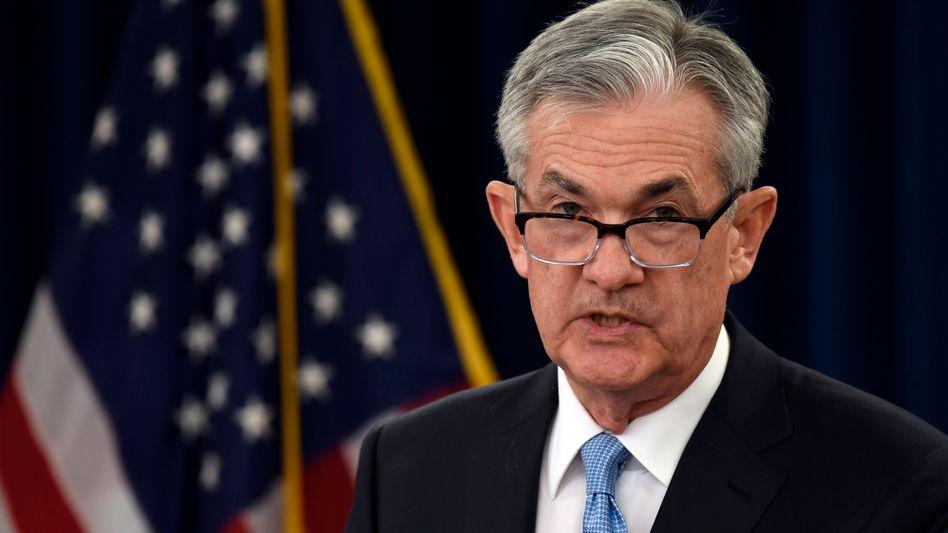 """Fed-Chef Jerome Powell: """"Unser Konjunkturausblick bleibt ein günstiger, trotz der weltweiten Entwicklungen und anhaltender Risiken"""""""