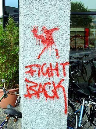 Müssen Geisteswissenschaftler mehr für sich kämpfen? Graffiti an der Universität Hamburg
