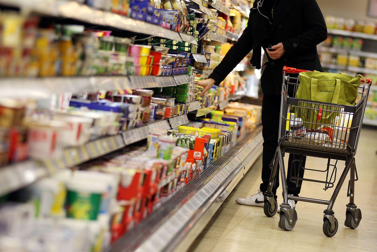 Supermarkt/ Einkaufswagen