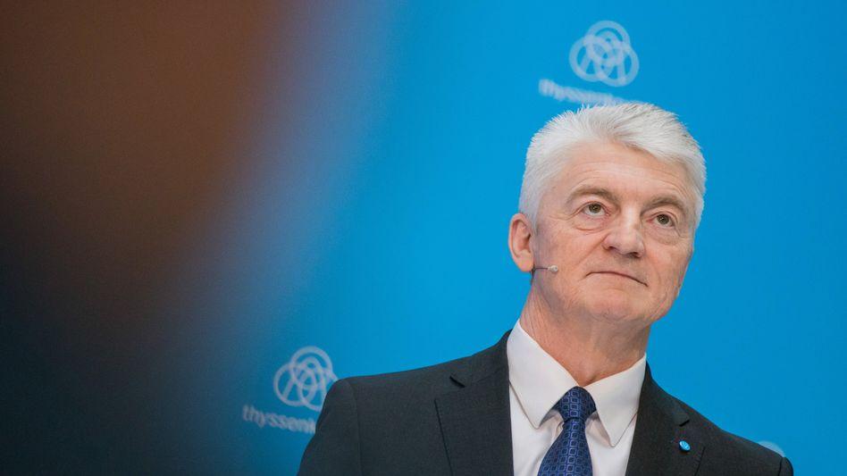 Bittet um Vertragsauflösung: Heinrich Hiesinger, Vorstandschef von Thyssenkrupp.