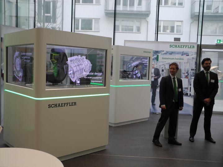 Schaefflers Präsentation auf der Bilanz-Pressekonferenz.