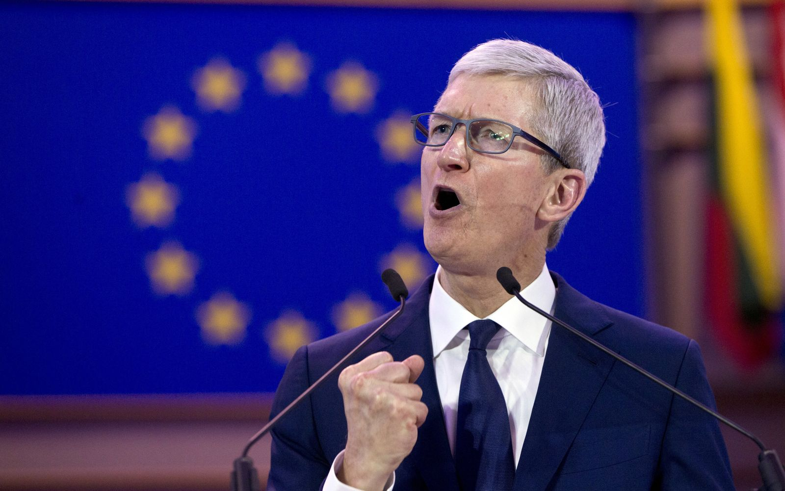 Apple-Chef Tim Cook in Brüssel