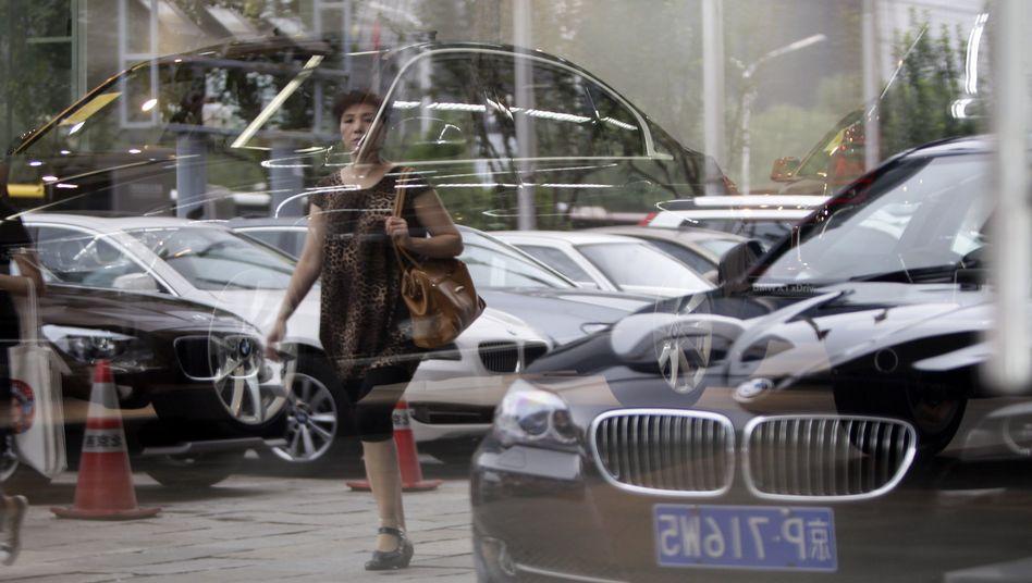 BMW-Showroom in Peking: Unrealistische Verkaufsvorgaben?
