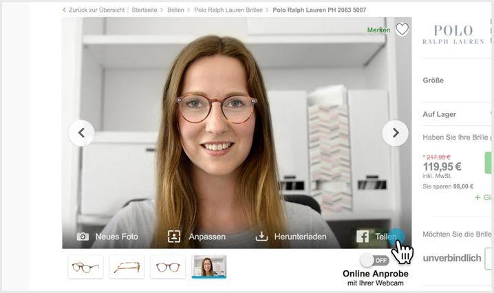 """Wie sieht das denn aus? Mister Spex ermöglicht seinen Kunden bereits seit fast einem Jahrzehnt eine Online-""""Anprobe"""" von Brillengestellen"""