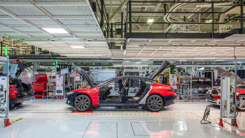 Tesla Model S im kalifornischen Fremont