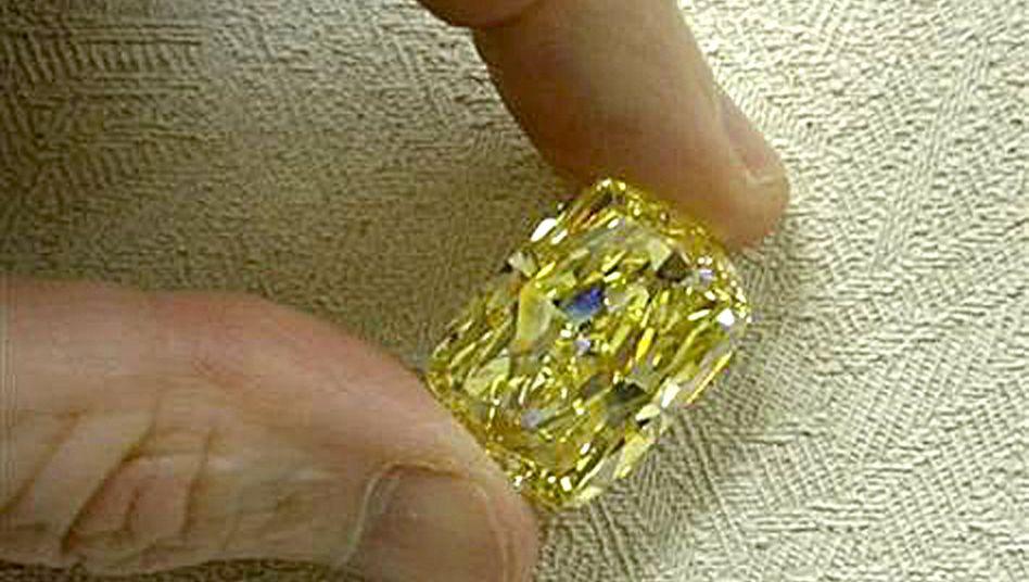 Wertvoller Edelstein: Der Diamant hat ein Gewicht von 43,5 Karat
