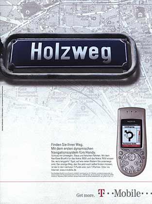 Visionär: Motiv der Werbe- Kampagne von T-Mobile