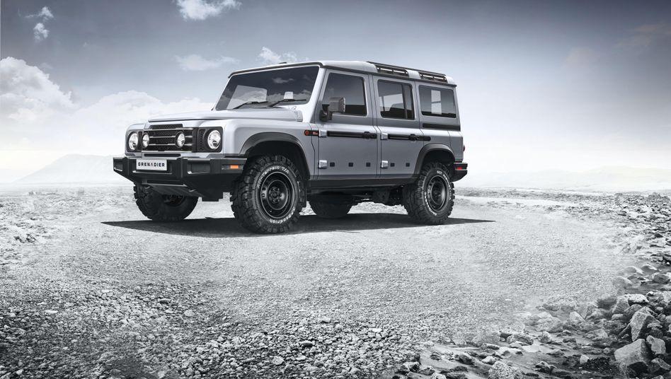 """Könnte künftig in Hambach gebaut werden: der """"Grenadier"""", ein Geländewagen im Stil der Autoikone Land Rover Defender"""