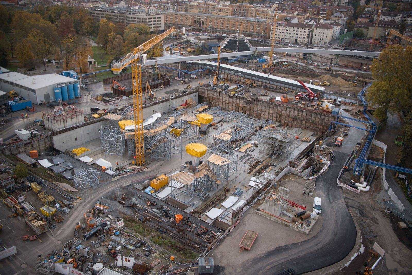 Stuttgart 21/ Bau Baustelle