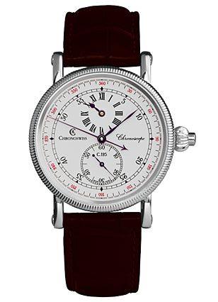 """Der """"Chronoscope CH 1523"""" von Gerd-R. Langs Chronoswiss überrascht mit einem Zifferblatt, wie es einst für Regulatoren üblich war. Die Anzeigen für Stunde und Sekunde sind dezentral angeordnet, nur der Minutenzeiger läuft auf der Mittelachse."""