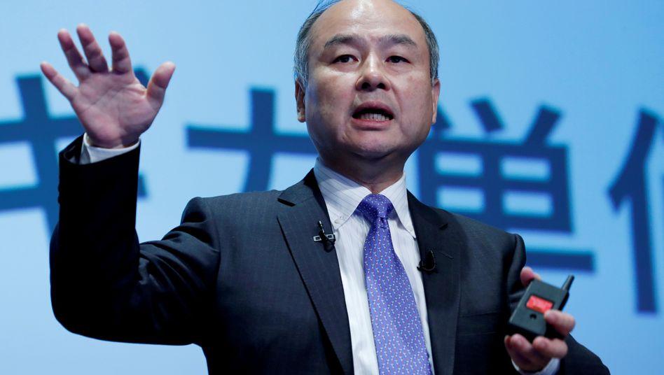 Plötzlich erpressbar: Softbank-Chef Son ist durch Fehlinvestitionen in Schwierigkeiten geraten und braucht nun Geld.