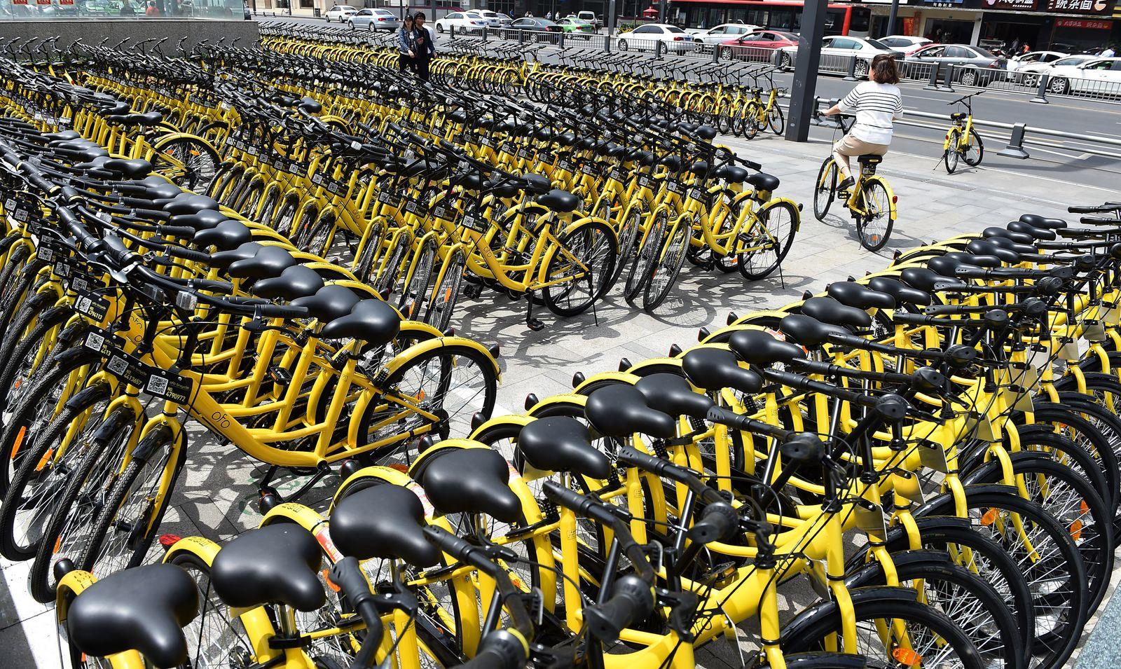 EINMALIGE VERWENDUNG bike-sharing service ofo
