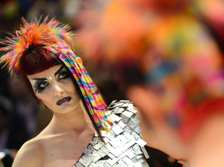 Model bei der Friseur-WM 2014: Das Friseurhandwerk ist eine Frauen-Domäne. Doch in Frankfurt (Oder) stellen Frauen sogar die Mehrheit der Beschäftigten