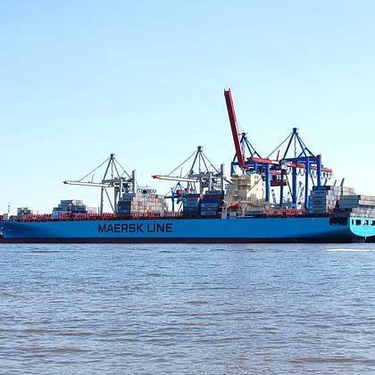 Riesige Überkapazitäten: Containerschiff von Mærsk