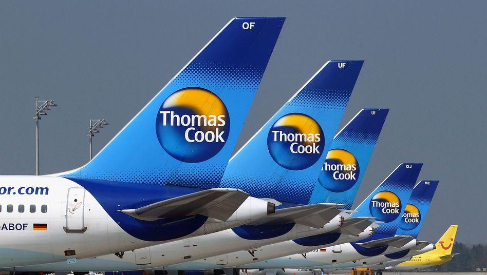 Am Boden: Der Reisekonzern Thomas Cook kämpft mit hohen Verlusten