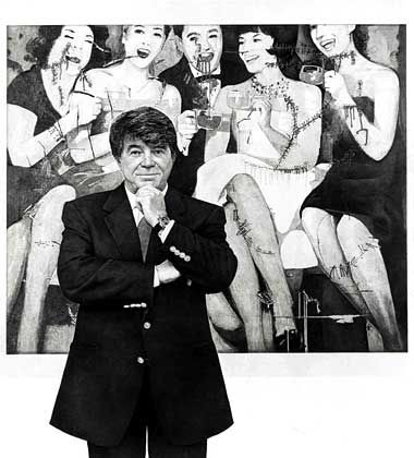 Abgeklärt: Frieder Burda, wie er vom Künstler Jean Olivier Hucleux gesehen wird