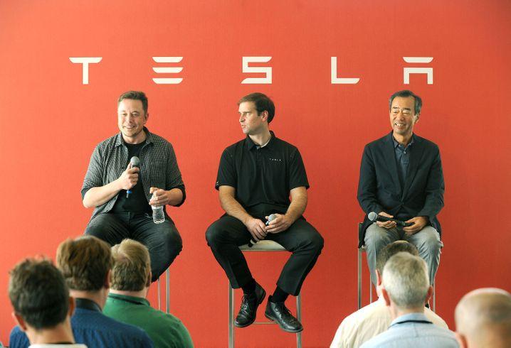 Ihre Wege trennen sich: Tesla-Boss Elon Musk und sein Mastermind JB Straubel.