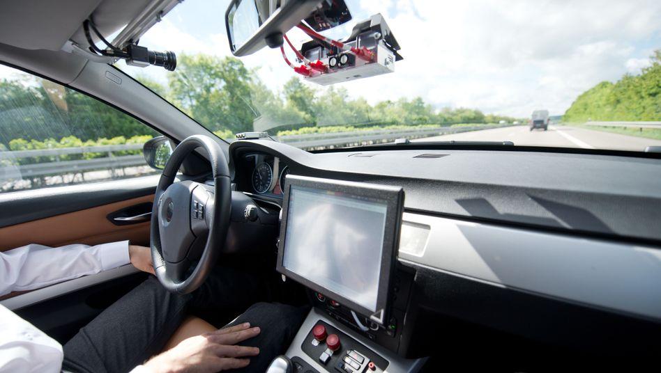 Roboterauto-Prototyp von Bosch: Bis zum vollständig selbstfahrenden Auto ist es noch ein weiter Weg