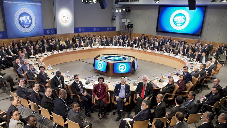 Finanzzentrale der Welt: Gemeinsame Tagung von IWF und Weltbank in der Zentrale des Internationalen Währungsfonds in Washington