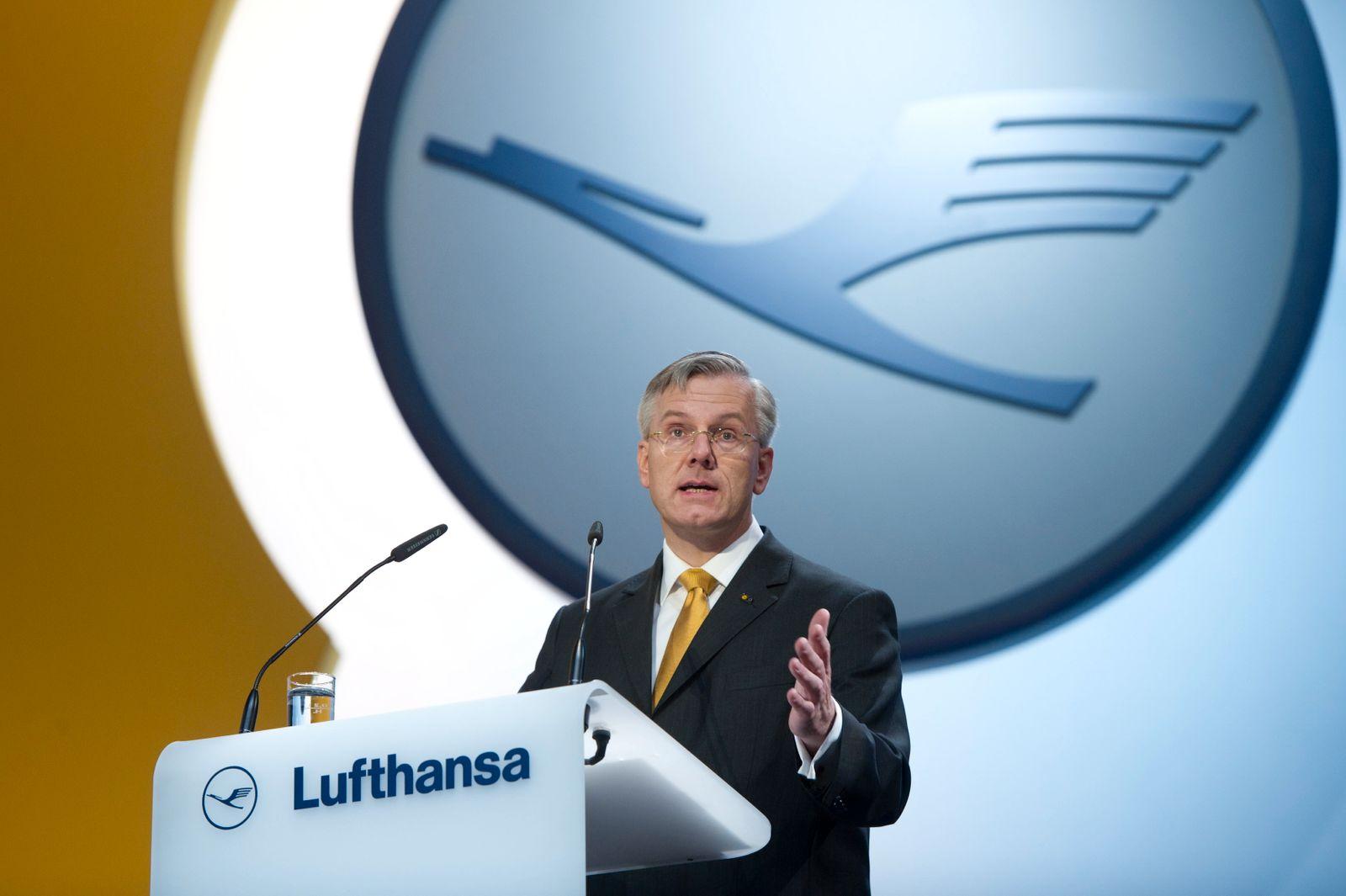 NICHT VERWENDEN Lufthansa / HV / Hauptversammlung / Christoph Franz