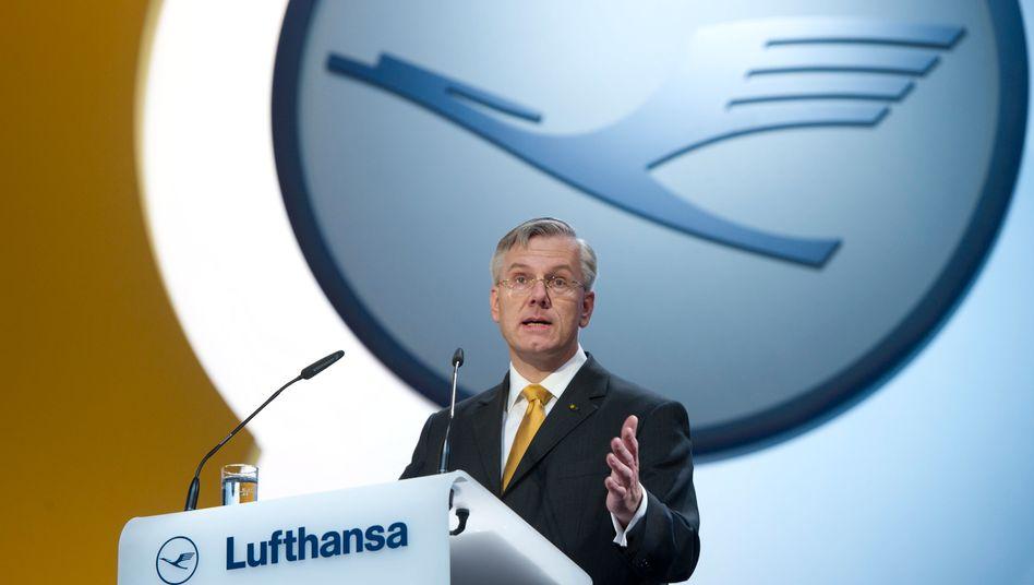 Treibstoffpreise größte Herausforderung: Lufthansa-Chef Franz auf der Hauptversammlung des Unternehmens