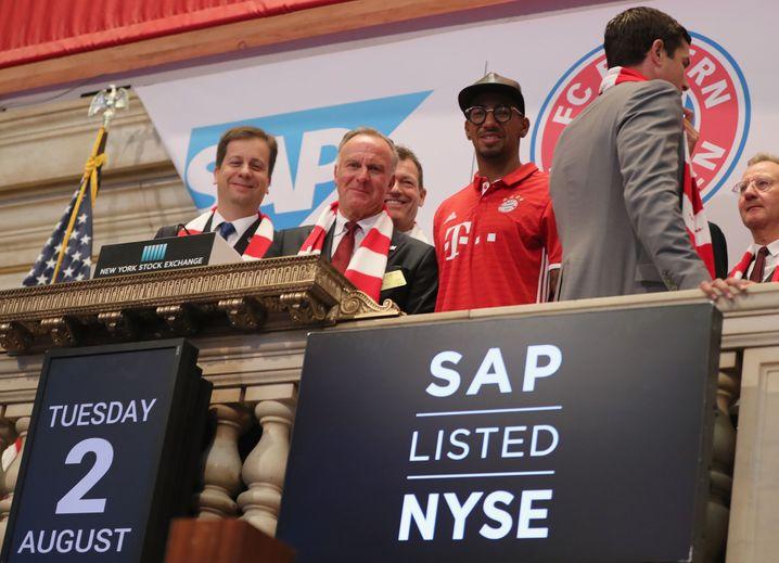 Rummennigge an der Wall Street
