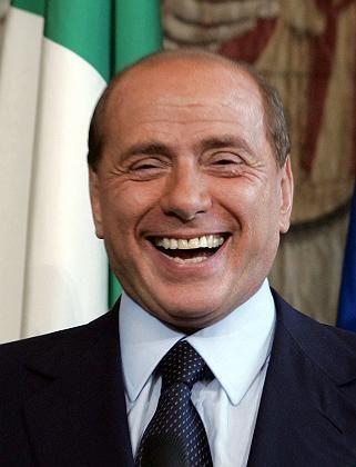 Hat gut Lachen: Berlusconi musste bisher nie eine Gefängnisstrafe antreten