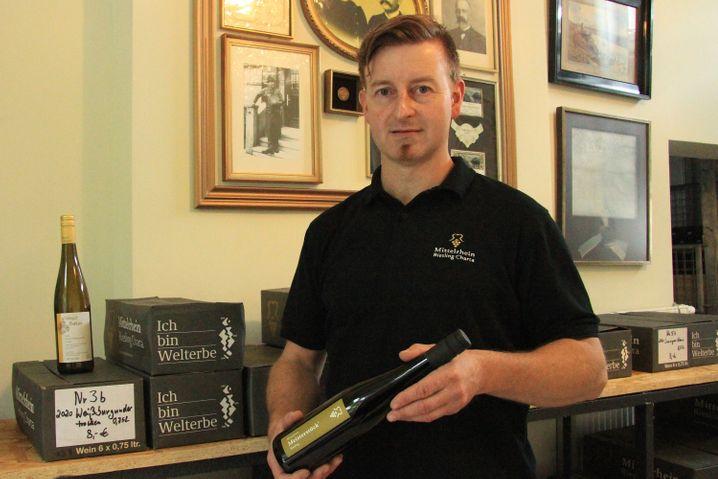 Der Winzer Peter Bahles gehört zu den Gründern der Mittelrhein-Riesling-Charta, einer Gemeinschaft von mehr als 20 Weinerzeugern