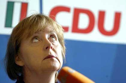Ein Geschenk des Himmels: CDU-Chefin Merkel kann sich über die neue Reformdebatte freuen