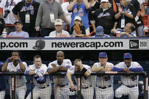 Sieht nicht gut aus: Spieler der Mets bei einer Niederlage im September 2008