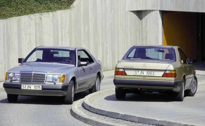 Elegante Mittelklasse: Coupé der später in E-Klasse umbenannten 124er Baureihe von Mercedes.
