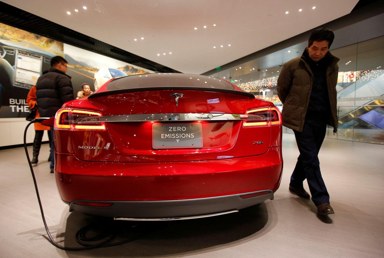 Tesla Model S - Showroom Beijing, China