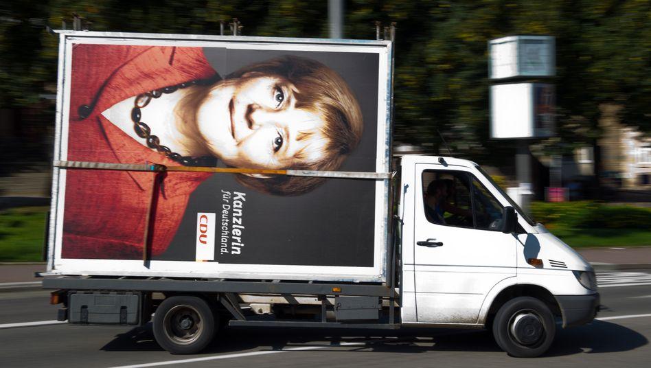 Siegerin ohne Koalition: Bundeskanzlerin Angela Merkel ist auf Partnersuche