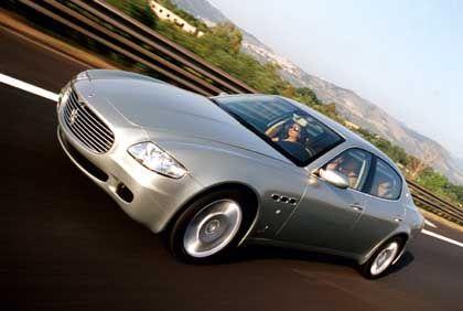 Teuer ist relativ: Silberner Maserati Quattroporte