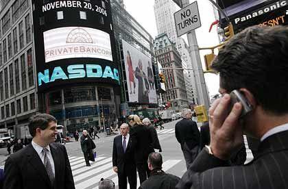 Punkt im internationalen Börsenpoker: Die Nasdaq