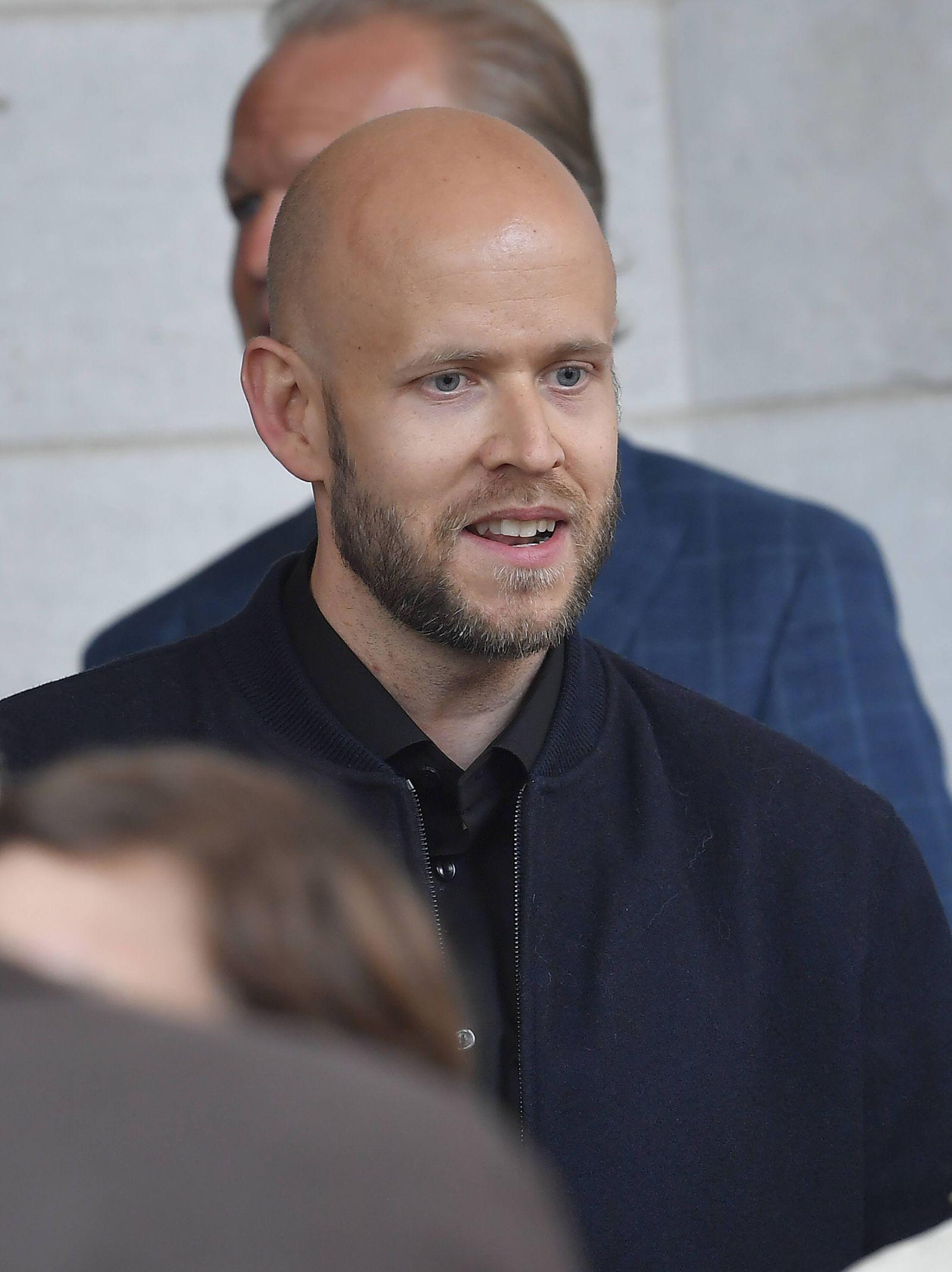 Spotify founder Daniel Ek arrives to the Brilliant Minds conference at Grand Hotel in Stockholm Swe