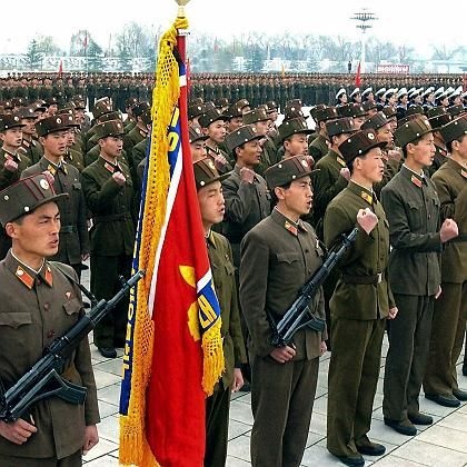 Destabilisierte Region:Militärparade in Nordkorea