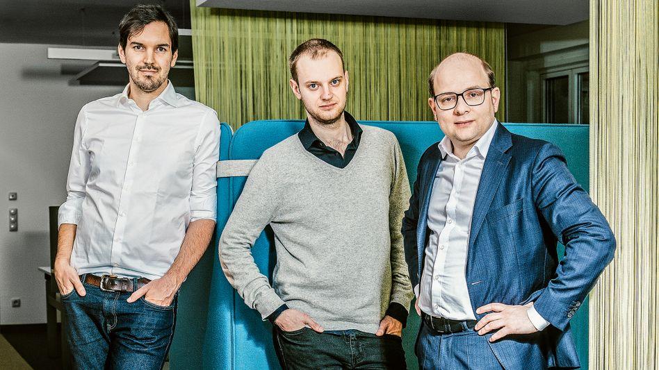 Vom Studentenprojekt zum Start-up mit Milliardenbewertung: die Celonis-Gründer Martin Klenk, Alexander Rinke und Bastian Nominacher (v. l.)