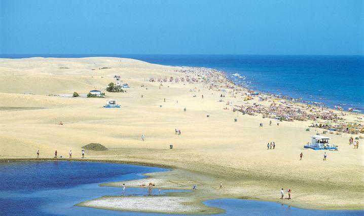 Die deutschen Urlauber auf Gran Canaria zieht es vor allem in den Süden - allen voran an den Strand von Maspalomas.