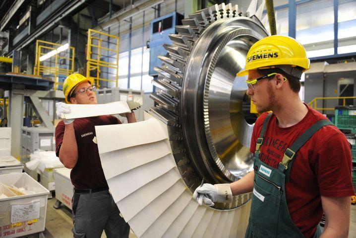 Siemens-Turbine: Ausgerechnet jene Geschäftsfelder, denen Experten am wenigsten zutrauten, sorgen bei Siemens für üppige Zuwächse. Dazu zählen auch Großbestellungen von Kraftwerken