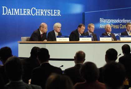 Bilanz-Vorwürfe zurückgewiesen: DaimlerChrysler-Präsentation