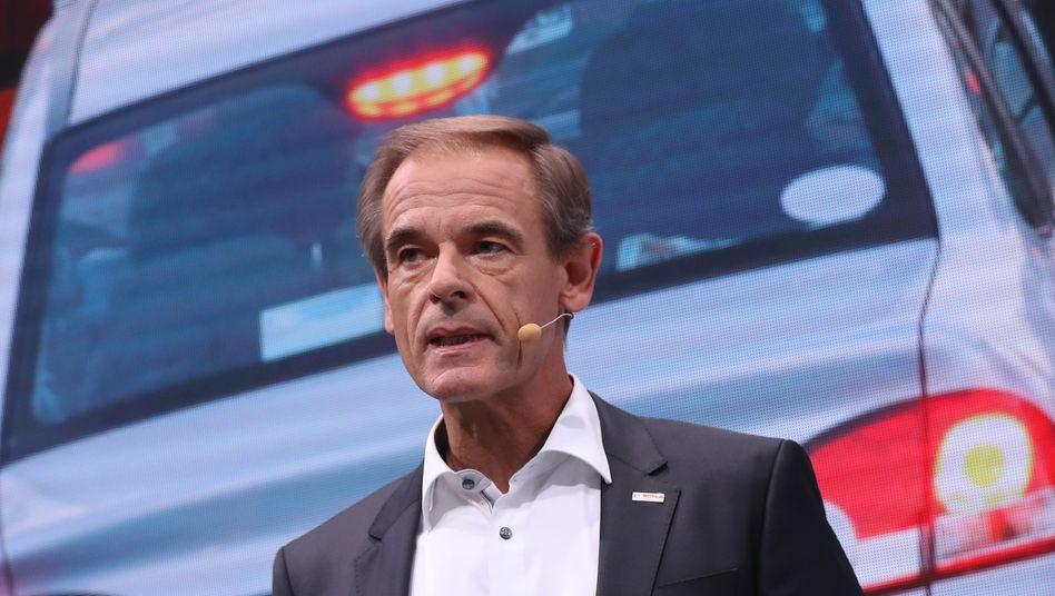 Rechnet mit ein Fünftel weniger produzierten Autos: Bosch-Chef Volkmar Denner