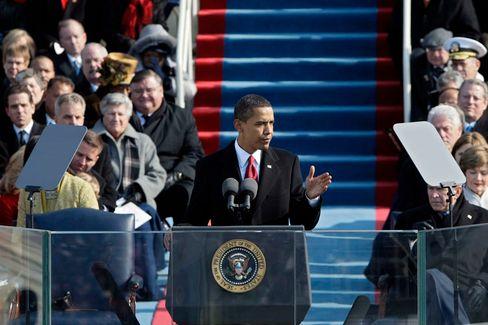 """""""Wir stecken in einer Krise - das haben wir inzwischen begriffen"""": Barack Obama schwörte die US-Bürger darauf ein, den """"Stürmen zu trotzen"""""""