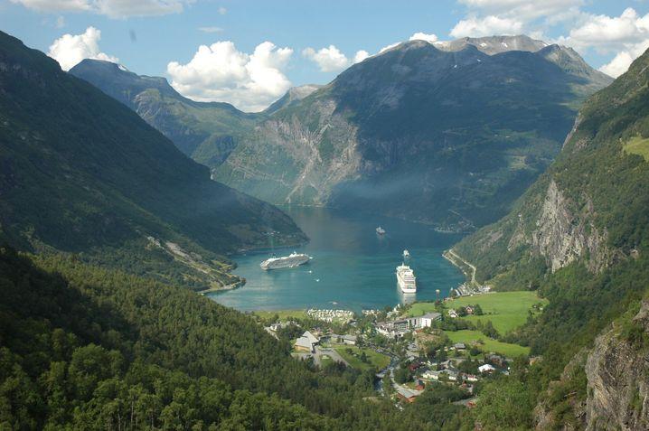 Kreuzfahrten nach Norwegen liegen weiterhin im Trend - allen voran in den Geirangerfjord.