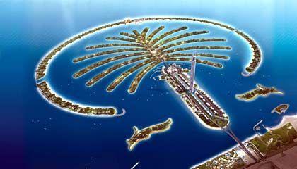 Dubai: Palmen im Meer