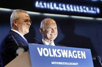 Mächtiges Duo: Winterkorn, Piëch auf der VW-HV